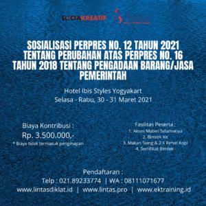 sosialisasi perpres no. 12 2021 jogja